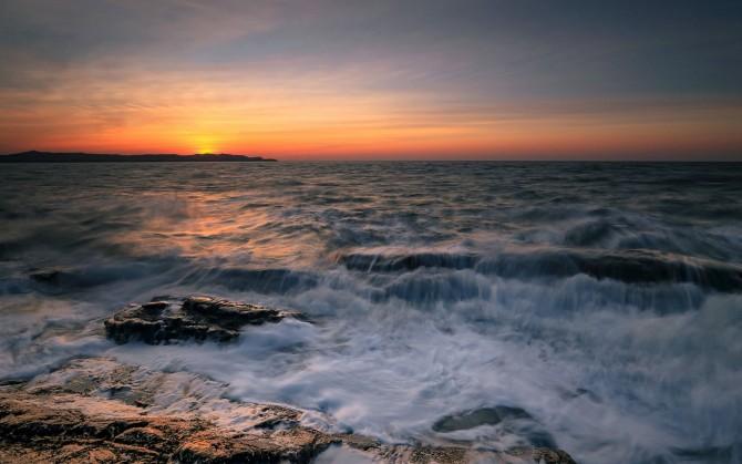 日落唯美风景图片win7高清壁纸