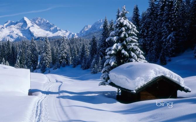 雪景冬天的图片自然风景桌面壁纸